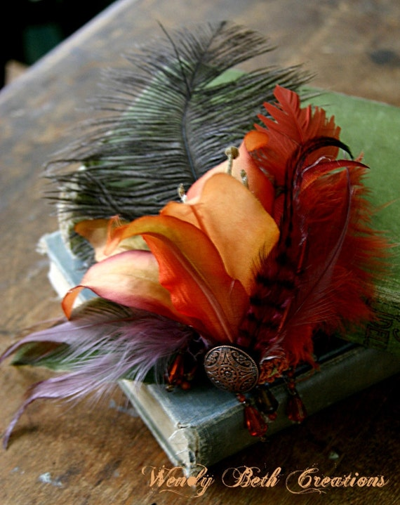 Tribaret Lily - Tribal Fusion - Hair Art Fascinator Clip