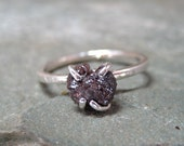 Rough Diamond Solitaire and 925 Sterling Silver Ring -  Artisan Jewellery - Handmade and Designed by A Second Time