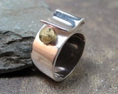 Sterling Silver Ring - Ribbon - Hand Made Silver Artisan Jewellery - Designed by A Second Time