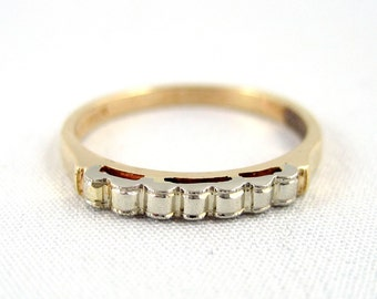 Vintage Wedding Band - 14K & 18K Gold - Circa 1960's - Midcentury Wedding Ring - Retro Wedding Band - Vintage Jewellery from A Second Time