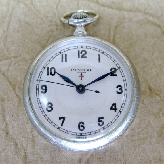 Vintage Imperial Watch Company Pendant or Petite Pocket Watch - Swiss Made - circa 1940's