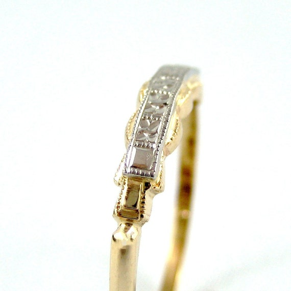 Vintage 14K - 18K Gold Wedding Band  Circa 1960's - from A Second Time