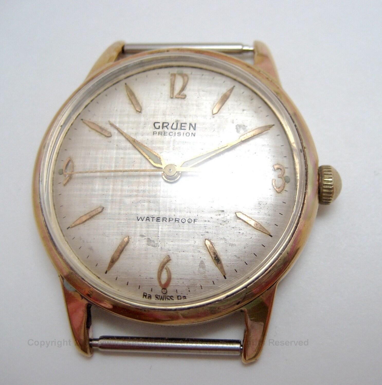 vintage gruen precision 17 jewel swiss made watch free. Black Bedroom Furniture Sets. Home Design Ideas