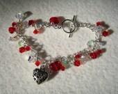 Valentine Charm Bling Bracelet