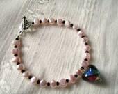 Lampwork Valentine Bracelet
