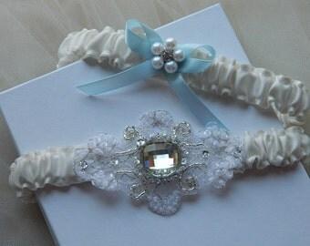 Wedding Garter, Bridal Garter, Off White Garter,Garter Set