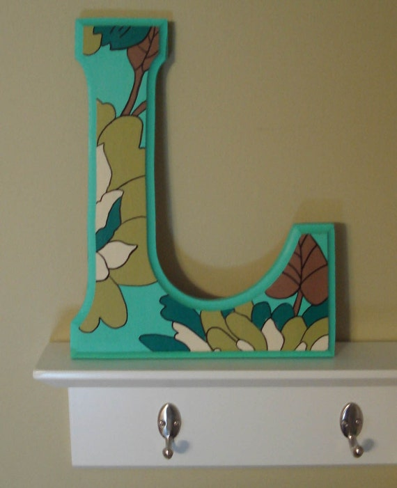 painted wooden letters items similar to handpainted wooden letter l any letter 23887 | il 570xN.70537982