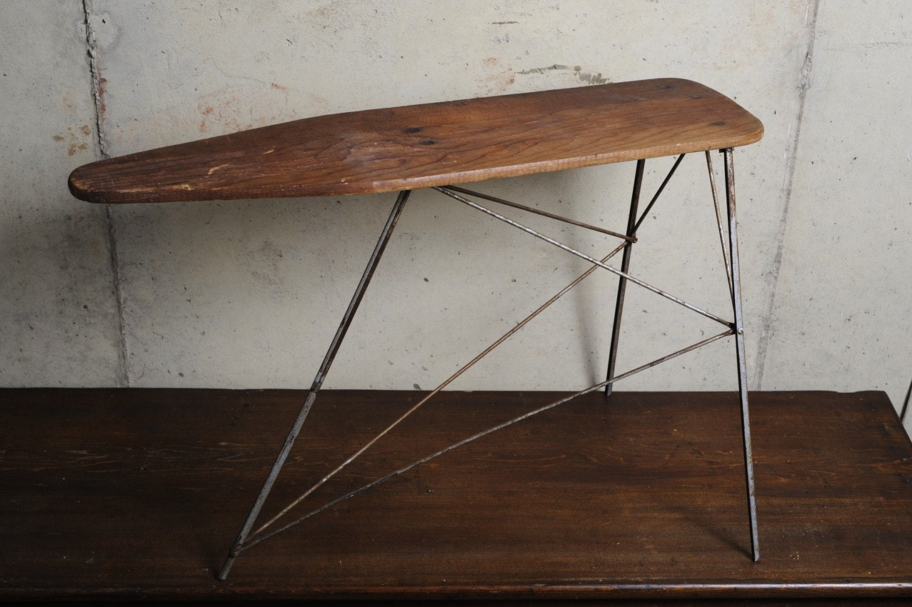 Vintage Childs Wood & Metal Ironing board by utopiapictures