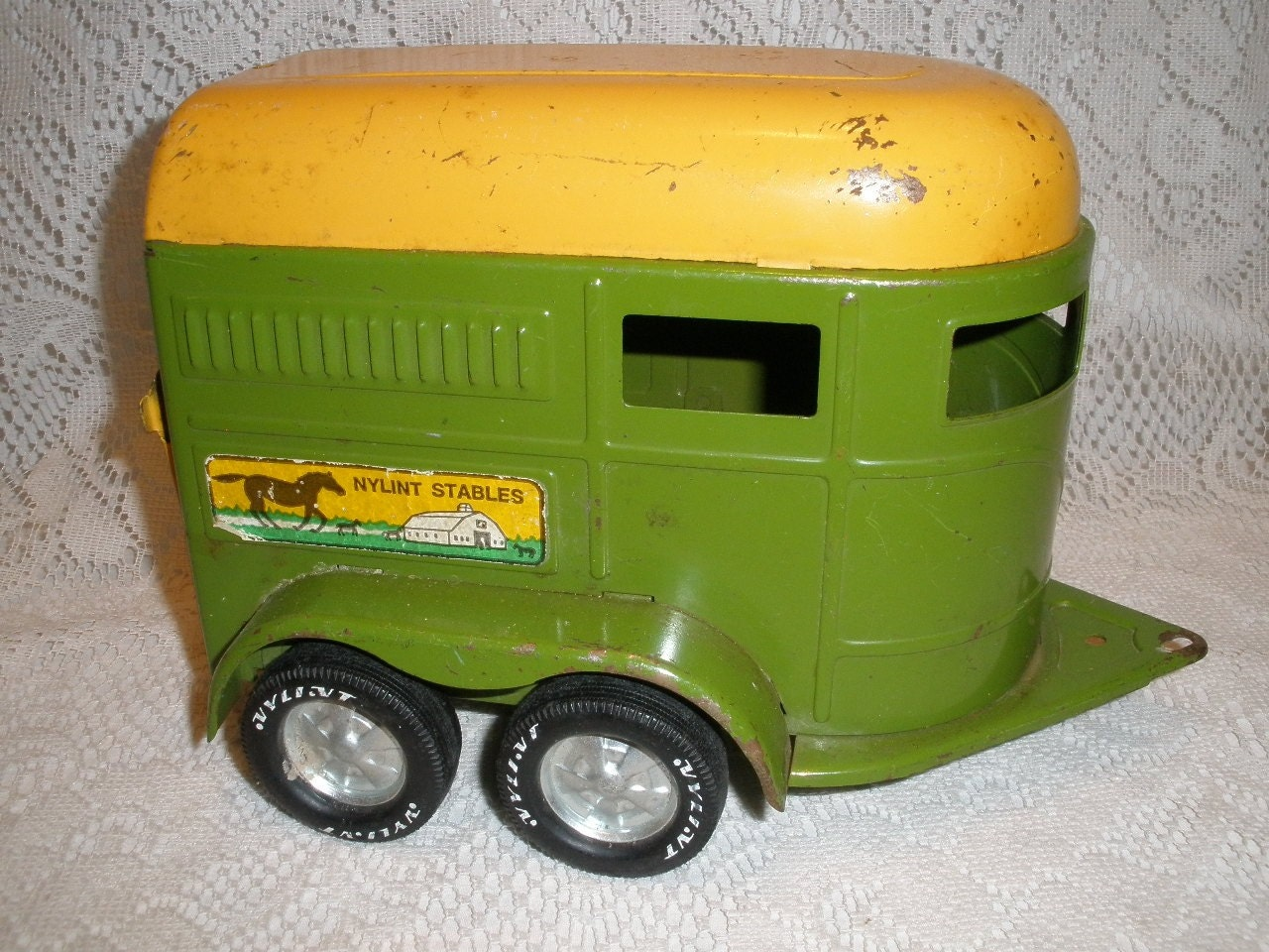 D And D Trailers >> Vintage NYLINT Horse Trailer Toy by Time2consign on Etsy