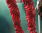 Red velvet sparkle leg warmers