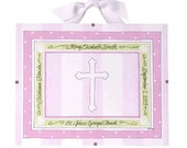 Baptism Gift - Christening Gift for Girls - Personalized Christening Plaque