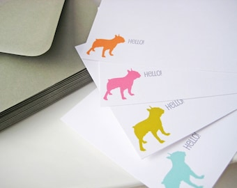 Dog Breed Silhouette Stationery Set of 12 Personalized