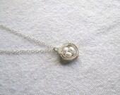tiny nest necklace