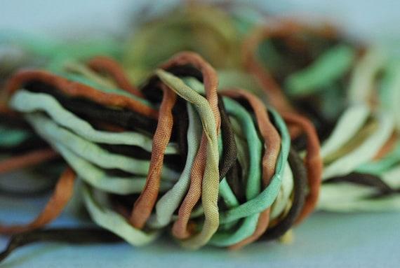 Silk Ribbon Strings 2mm Woodland Realm Bundle of Ten 2mm Silks