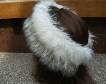Women's Faux Fur HEADBAND, Fur Headwrap, Ear Warmer, Head Warmer, Russian Husky Fur Headband