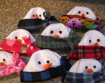 BABY SNOWMAN HATS sizes 2-6 months, 6-12 months, 12-24 months, 2-4 years, Baby Winter Hat