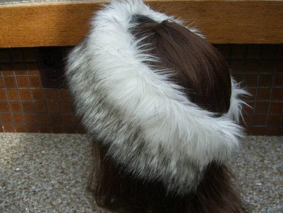 Women's Faux Fur HEADBAND, Fur Headwrap, Ear Warmer, Head Warmer, Russian Husky Fur Headband