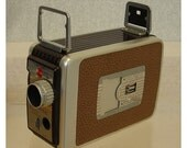 Vintage Kodak 8MM Brownie Movie Camera\/1950s\/Original Box\/Mechanism Works
