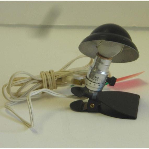 vintage esterbrook mini clip on reading lamp black 1940s. Black Bedroom Furniture Sets. Home Design Ideas