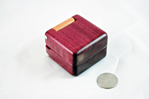 Ring Box - Purpleheart and Curly Soft Maple