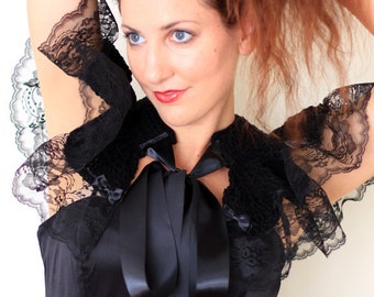 Black Lace Collar - Gothic Fashion Capelet