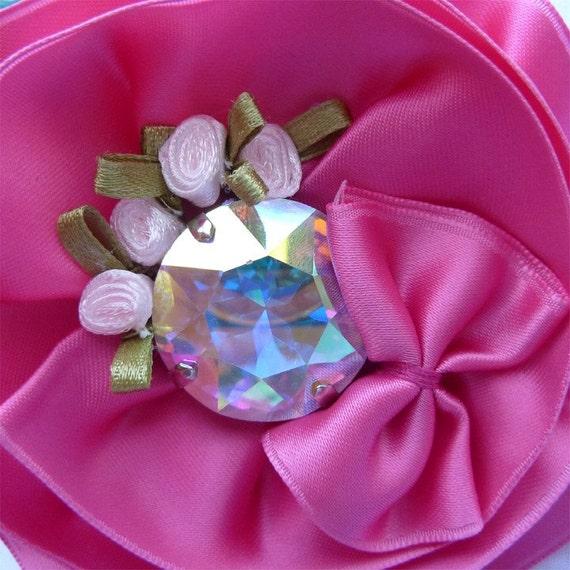 Fairytale Flower Clip in Pink by Mademoiselle Mermaid
