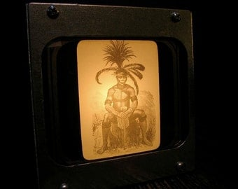 AFRICAN CHIEF -  Fotolyte Vintage Magic Lantern Slide Light Box
