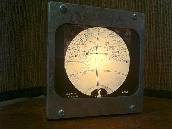 GLOBE 1492 (REPRODUCTION) -  Fotolyte Vintage Magic Lantern Slide Light Box