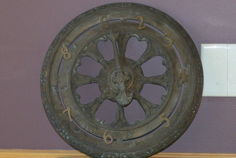 Antique Bronze Elevator Dial Floor Indicator