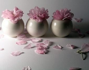 Mini White Porcelain Vases - Summer Wedding Edition - Set of 3