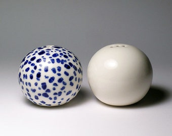 Salt and Pepper Shakers -  Dalmatian Blue Spots
