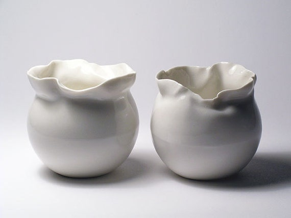 Sculpted Top Vases - Set of 2 -  SALE