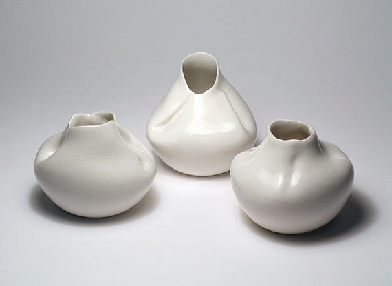 Sculptural Vases-Set of 3 - FATHERS DAY SALE