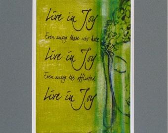 Joyful Buddha 8x10 matted print ready to frame