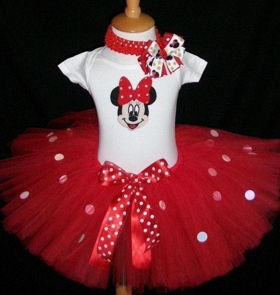 Sweetie Pie Tutus-Original-Minnie Mouse Tutu Set-FREE coordinating headband and Minnie Bow