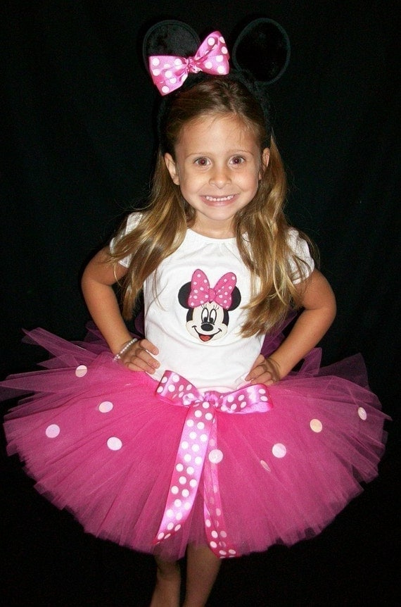 Pink  Sparkle Minnie Mouse Costume set