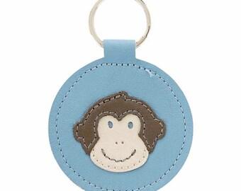 Year of the Monkey Mally Designs Keychain, Bright Blue