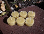 6 Beeswax  Lavender essential oil scented Tealight candles Christmas Sale 25% off