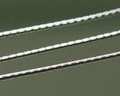 Sterling Silver Chain by the Foot -  Beading Chain 0.55mm - Lengths to 3 Feet