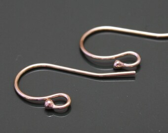 14k Gold Filled Earwires - Shepherd Hook  with Ball - 5 pairs