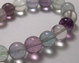 Rainbow Fluorite Beads 6mm round  - 10 beads