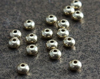 Gold Filled Beads 3mm Saucers  - Select Pack Size