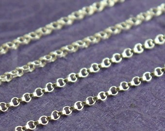 Sterling Silver Chain Bulk - Petite Rolo Chain - SAVE 5-10% on Bulk Chain Lengths