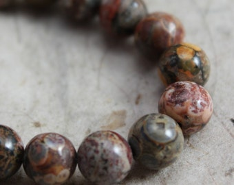 Leopardskin Jasper Beads 6mm round - Full Strand