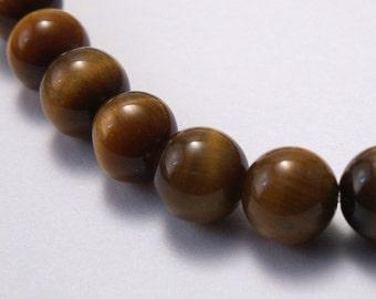 Tiger Eye Beads 6mm round - 20 beads