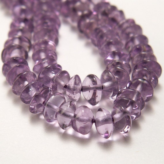 Natural Amethyst Beads  4mm Rondelles  - 50 beads