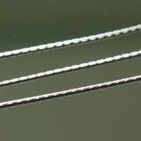 Sterling Silver Chain Bulk - 0.55mm Beading Chain - 12 Feet - SAVE 10 PERCENT