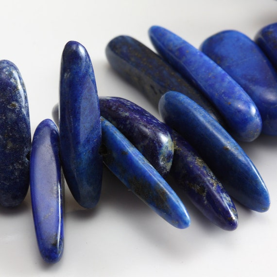 Lapis Lazuli Large Hawaiian Chips Top Drilled - 30 chips