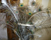 Sale. 50 India Blue Peacock eye and sword feathers. Different sizes.