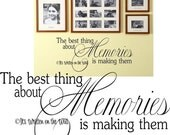 The Best Thing About Memories is Making Them 11x29 VINYL Lettering Wall Saying-Unlimited Items ship for 3.50